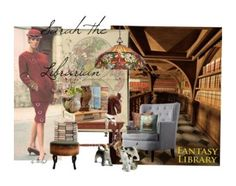 """""""library"""" by silverfoxantique ❤ liked on Polyvore featuring art and vintage"""