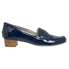 Amber by Hogl - the ultimate loafer in navy patent - so chic