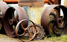 Rusted Antique Metal Wheels - 8x10 print on Etsy, $20.00