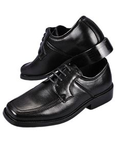 Goodfellas Square Toe Dress Shoes (Boys Youth Sizes 13 - - black, 2 - - Product Description: If your little guy needs a grown-up style, check out these Goodfellas dress shoes. Made of convincing faux leather Toddler School Uniforms, Boys School Shoes, Boys Dress Shoes, Boys Shoes, School Uniform Accessories, Leather School Shoes, Boy Fashion, Mens Fashion, Black 13