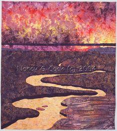 Crescendo quilt, by Nancy Cook - Fiber Art, Mixed Media and Art Quilts - Portfolio: Landscape & Floral