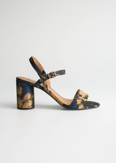Cross Strap Stiletto Sandals - Khaki - Heeled sandals - & Other Stories Blue Sandals Heels, Strappy Block Heel Sandals, Lace Heels, Sandals Outfit, Ankle Strap Heels, Ankle Straps, Strappy Heels, Shoes Heels, Heeled Sandals