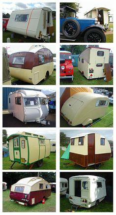 Various British caravans [photo collage]
