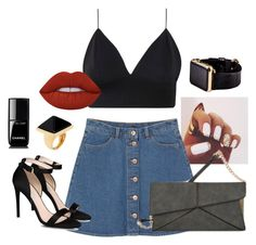 """Dinner for 2!"" by mellowworldfashion on Polyvore featuring Monki, Mellow World, STELLA McCARTNEY, Kenneth Jay Lane, Hadoro, Lime Crime, Chanel, DateNight, chic and edgy"