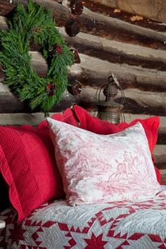 A Log Cabin Christmas, Red Star Quilt