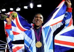 Golden future: British Boxer Anthony Joshua has a glittering career ahead of him after his victory at the ExCeL arena