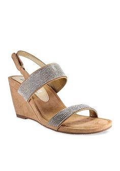 Nina Sigrid Jewel Sling Wedge Sandal