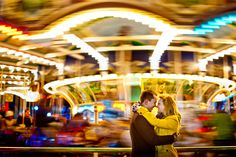 Engagement Pictures Carousel or Merry Go Round Engagement Photography-- amusement park or fair. Fair Photography, Couple Photography, Engagement Photography, Wedding Photography, Engagement Couple, Engagement Pictures, Engagement Session, Engagements, Carnival Photo Shoots
