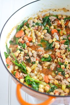 Turkey Sausage and Chickpea Soup | Soup Recipe | simplywhisked.com