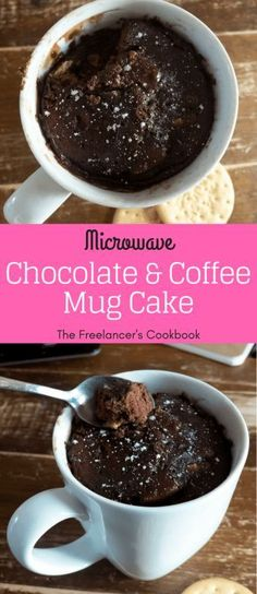 Super quick recipe for one - an easy microwave mug cake recipe with chocolate an., Super quick recipe for one - an easy microwave mug cake recipe with chocolate and coffee. Perfect if you ¿Quieres hacer postres durante casa embargo absolutely no . Mini Desserts, Quick Easy Desserts, Easy Snacks, Quick Recipes, Cake Recipes, Dessert Recipes, Cookbook Recipes, Quick Meals, Brownie Recipes
