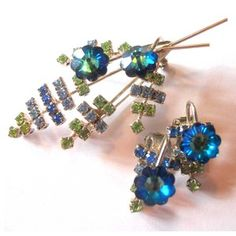 '60s Rhinestone Brooch Set, $96, now featured on Fab.