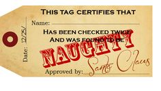Naughty & Nice tags, free download, super cute!