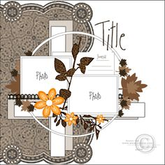 Scrapbook page layout sketch