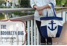 Nautical Bag using the Brooklyn Bag Pattern by Indygo Junction