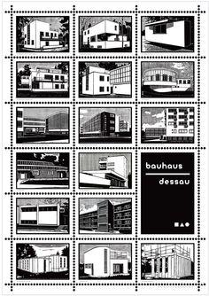 Bauhaus Dessau – Poster erhältlich im Buchladen im Bauhaus Dessau