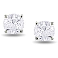 14k  Gold 1ct TDW Diamond Stud Earrings ($1,485) ❤ liked on Polyvore featuring jewelry, earrings, accessories, 14k stud earrings, 14k earrings, 14k yellow gold earrings, round stud earrings and 14 karat gold earrings