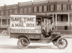 United States Postal Service in expansion mode.  This would be before we allowed FedEx and UPS to privatize it.