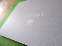Holiday Note Card : Let It Snow on Etsy, $4.00 CAD