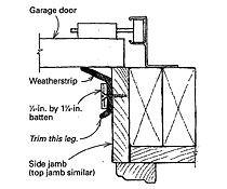 Better garage-door weatherstripping