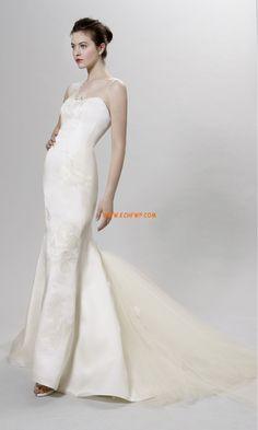 Meerjungfrau-Linie/Mermaid-Stil Sommer Reißverschluss Brautkleider 2014