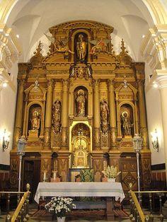 Retablo de la Iglesia de San Miguel Arcangel,Villanueva de Cordoba España