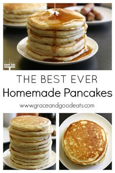 Homemade Pancakes via @gracegoodeats