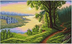 Scroll Of The River - Cross Stitch Kits by RTO - M182