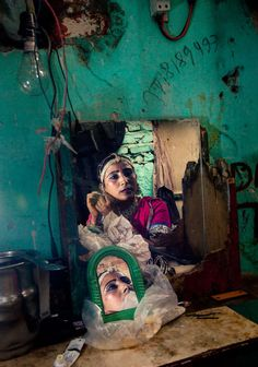 Inside home of woman of Kathputli Colony slum. by Serge Bouvet on 500px