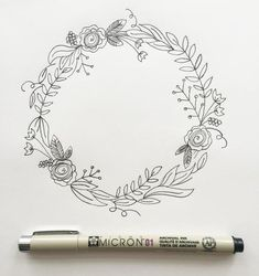 """I'm back with my third post in the """"How to Draw"""" series. (You can view the first two here and here.) I love drawing wreaths but I find myself feeling really overwhelmed when I sit down to draw one. Where do I start? What do I draw? Too sparse? Too full? Ok, well I'm breaking it down step by step today so if you're like me, you won't be overwhelmed any longer. But before we go any further, download your worksheet here. Your worksheet shows you the collection of botanical elements in thi..."""