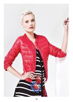 KRISS Sweden Down jacket Red Leather, Leather Jacket, Sweden, Spring, Jackets, Fashion, Studded Leather Jacket, Down Jackets, Moda