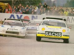 Martin Schanche leading the pack in his Ford RS200.