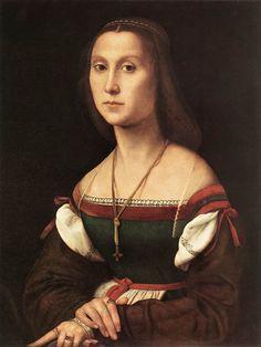 RAFFAELLO Sanzio  Portrait of a Woman (La Muta)  1507  Oil on wood, 64 x 48 cm  Galleria Nazionale delle Marche, Urbino