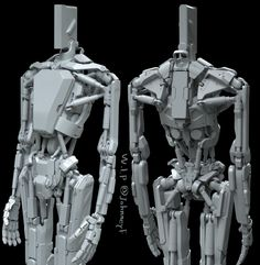 Some nice mechanical stuff Arte Cyberpunk, Arte Robot, Humanoid Robot, Robots Characters, 3d Figures, Future Soldier, Robot Concept Art, Robot Design, Mechanical Design