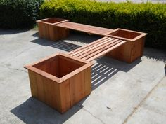 Planterbox bench