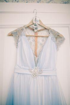Vintage powder blue dress   Anastasiya Belik Photography   http://burnettsboards.com/2013/12/powder-blue-white-wedding/