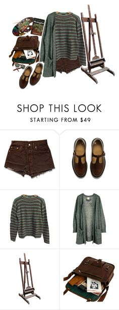 """""""To Kill A Mockingbird"""" by lsaroskyl ❤ liked on Polyvore featuring Levi's, Dr. Martens, Prada, Julie Fagerholt Heartmade, Berkshire and Cutler and Gross"""