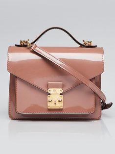 9122ff7c3ef0 Louis Vuitton Rose Velours Vernis Leather Monceau BB Bag