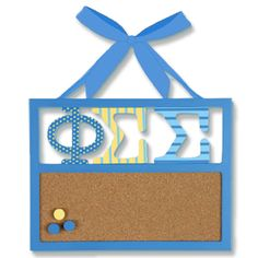 Phi Sigma Sigma Sorority Corkboard $19.95-i want it!