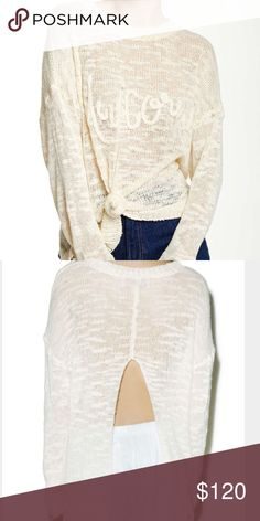 Wildfox Unicorn Open Back Sweater Gorgeous and unique (like all Wildfox clothes!) sweater. Color is called pearl. Only selling because I sadly have had it way too long without wearing it! Photo credit to Nordstrom. Feel free to ask any questions or make an offer 💞 Wildfox Sweaters