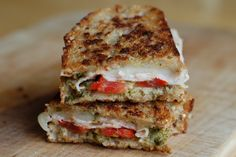 Pesto grilled cheese... pair this with some creamy tomato soup and you are good to go!