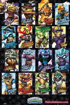 Skylanders Swap Force: New Poster Reveals Artwork for All 16 Swappable Figures