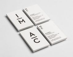 Black and white business card design.