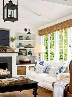 Magnificient Coastal Living Room Decor Ideas 32 – Home Design Living Room Windows, My Living Room, Home And Living, Living Room Decor, Living Spaces, Decor Room, Cozy Living, Living Area, Southern Living