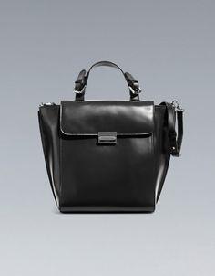 Zara Shopper-Tasche mit Metallverschluss