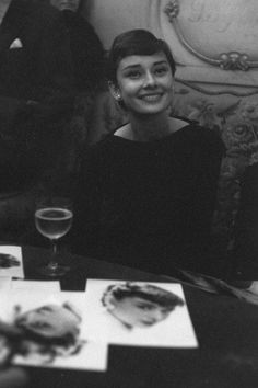 Audrey Hepburn & a glass of wine #perfection