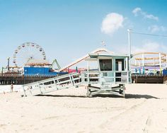 Santa Monica Pier California Los Angeles Lifeguard by BreeMadden