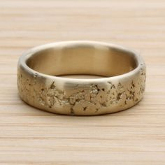 6mm concrete texture wedding band cement textured gold or palladium mens ring rustic ancient cement raw rough lava rock texture - Rustic Wedding Rings