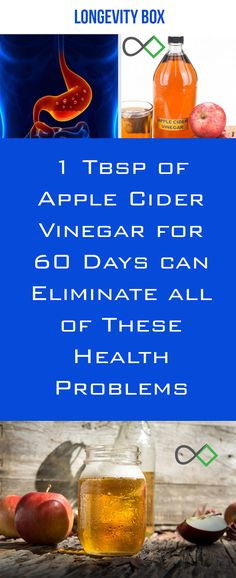 1 Tbsp of Apple Cider Vinegar for 60 Days can Eliminate all of These Health Problems