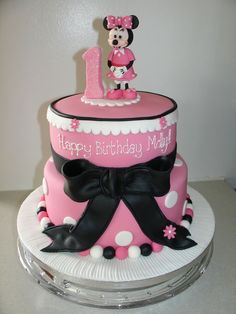 ... party  Willow Grace  Pinterest  Minnie Mouse Cake, Mouse Cake