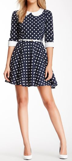 Peter pan dot dress